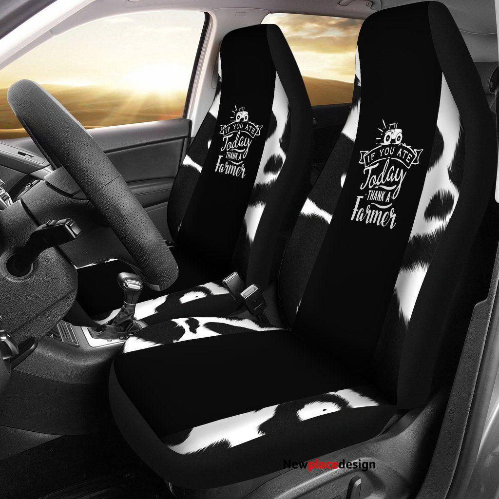 Thank a farmer car seat covers (set of 2) - Car Seat Covers - Thank a farmer car seat covers (set of 2) / Universal Fit