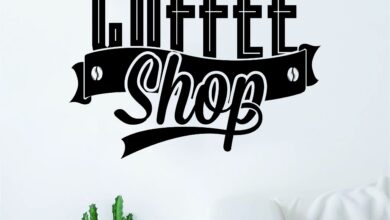 The Coffee Shop Quote Wall Decal Sticker Bedroom Living Room Art Vinyl Beautiful Kitchen Cute Shop Morning - grey