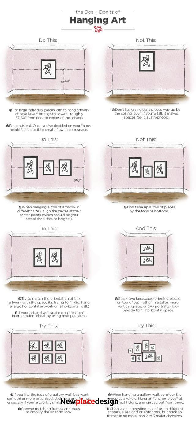 The Dos & Don'ts of Hanging Art: An Illustrated Guide