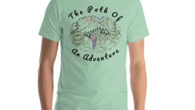 The Path of An Adventure Hiking T-Shirt Light Colors - Heather Prism Mint / L