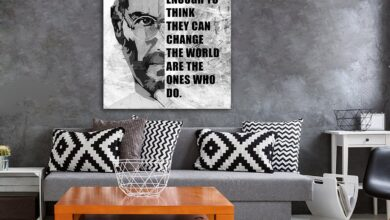 The People Who Are Crazy Enough Canvas Wall Art - Steve Jobs Quote - 32 X 48 Inches / Gallery Wrap