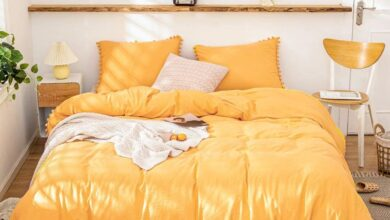The Softy Pom Pom Yellow Bed Set - Queen