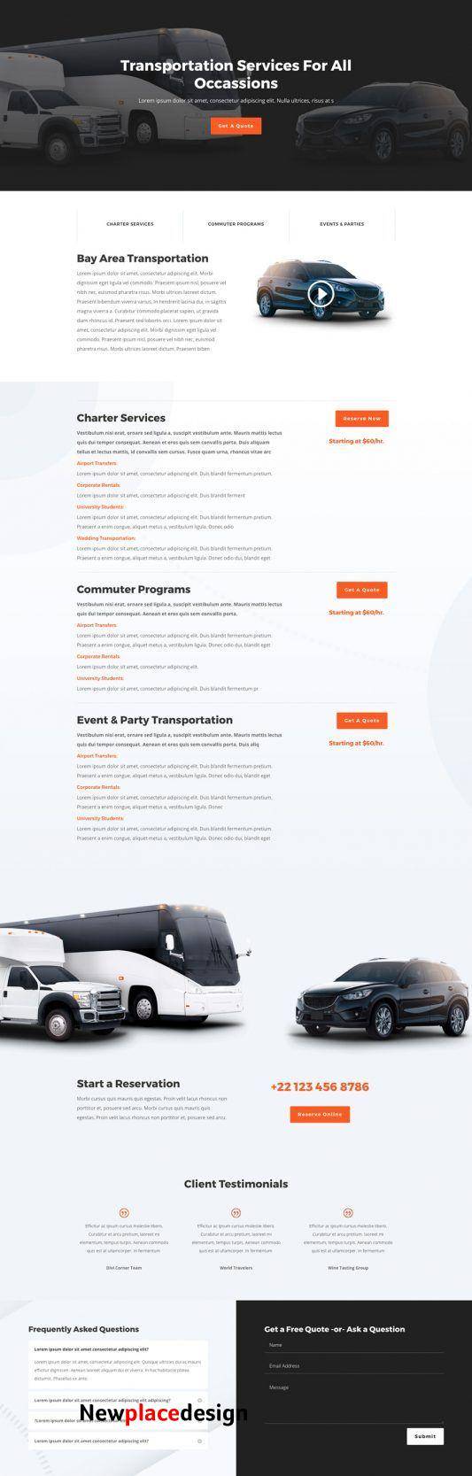 The Transportation Services Layout Pack is an excellent choice if you want to get a website up