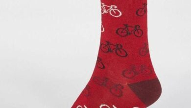 Thought Zachary Bicycle Socks in Berry Red - 7-11 / BERRY RED