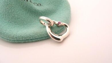 Tiffany & Co Silver Peretti Pink Sapphire Heart Charm Clasp 4 Necklace Bracelet