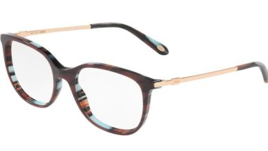 Tiffany TF2149 Square Eyeglasses - 53-18-140 / 8207-RED/LAMPS RED