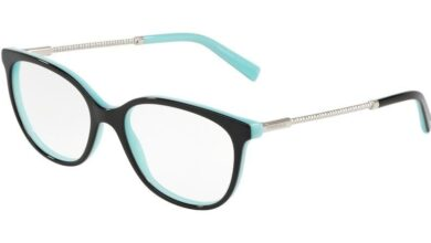 Tiffany TF2168 Square Eyeglasses - 54-17-140 / 8055-BLACK/BLUE