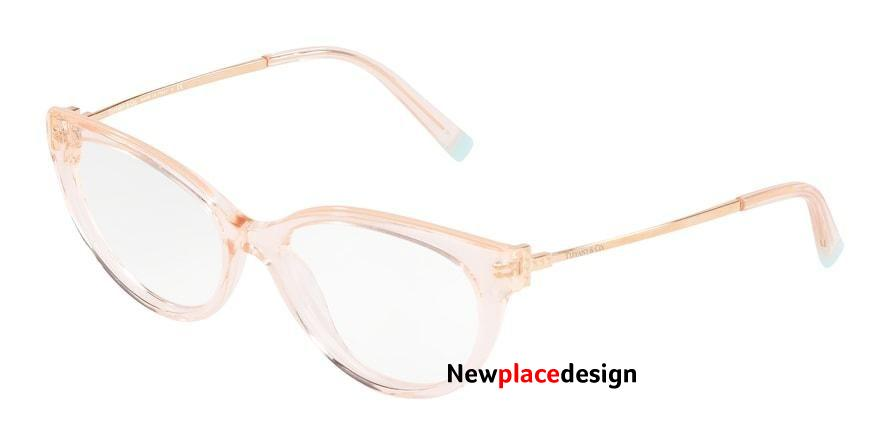 Tiffany TF2183 Cat Eye Eyeglasses - 52-16-140 / 8278-CRYSTAL ROSE PEACH/NUDE