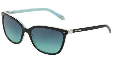 Tiffany TF4105HB Square Sunglasses - 55-17-140 / 81939S-BLACK/STRIPED BLUE