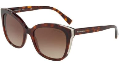 Tiffany TF4150 Square Sunglasses - 55-18-140 / 80023B-HAVANA