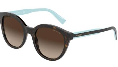 Tiffany TF4164 Pillow Sunglasses - 52-20-140 / 80153B-HAVANA