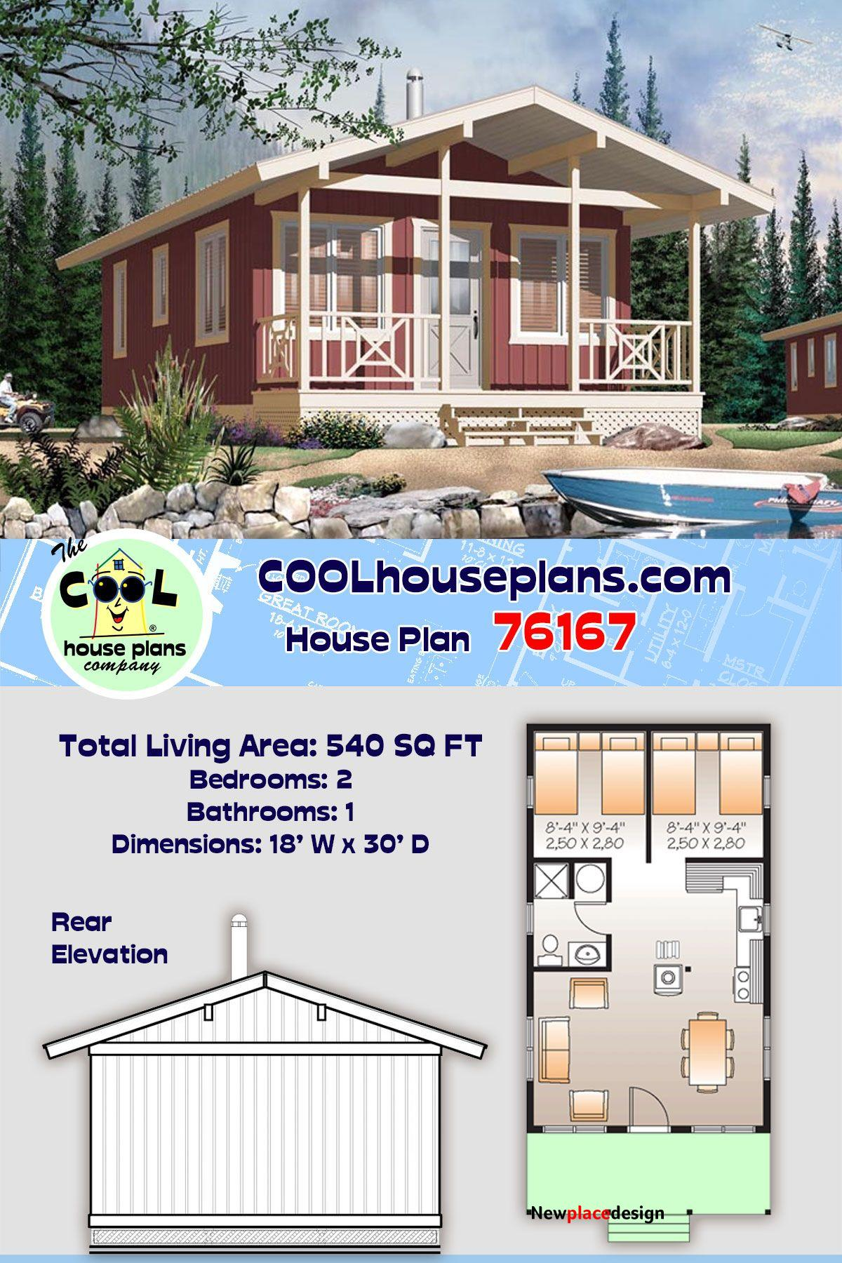 Tiny House for Narrow Lot - 540 sq ft with Two Bedrooms and One Bathroom