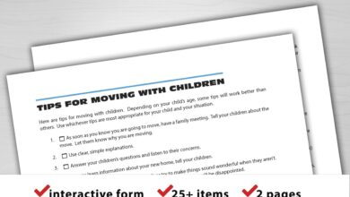 Tips for Moving with Children - Digital Download