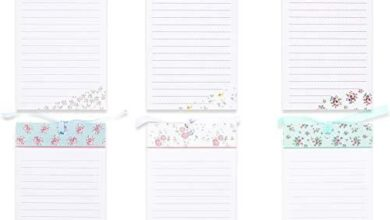 To-Do-List Notepad – 6-Pack Magnetic Notepads, Fridge Grocery List Magnet Memo Pad for Shopping, To Do List, Reminders, House Chores, Assorted Flower Designs, 60 Sheets Per Pad, 4 x 8 Inches - Assorted Floral 1
