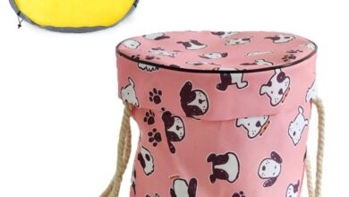 Toy Storage Box & Play Mat - Pink Dogs