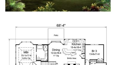 Traditional Style House Plan 95900 with 4 Bed, 3 Bath, 2 Car Garage