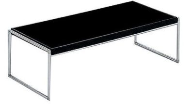 Trays Side Table - Black / Large Rectangle Table