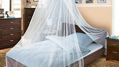 Twinkle Star Bed Canopy for Single to King Size Beds (White) - White