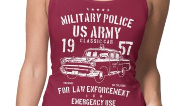 US Army Military Police Womens Tank Top - L (UK Dress Size 14) / Maroon / Womens Tank Top