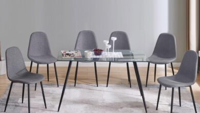 Upholstered Dining Chair (6 PCS | Grey)