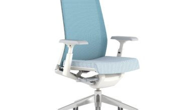 Very Office Chair with Height Adjustable Arms - Heron