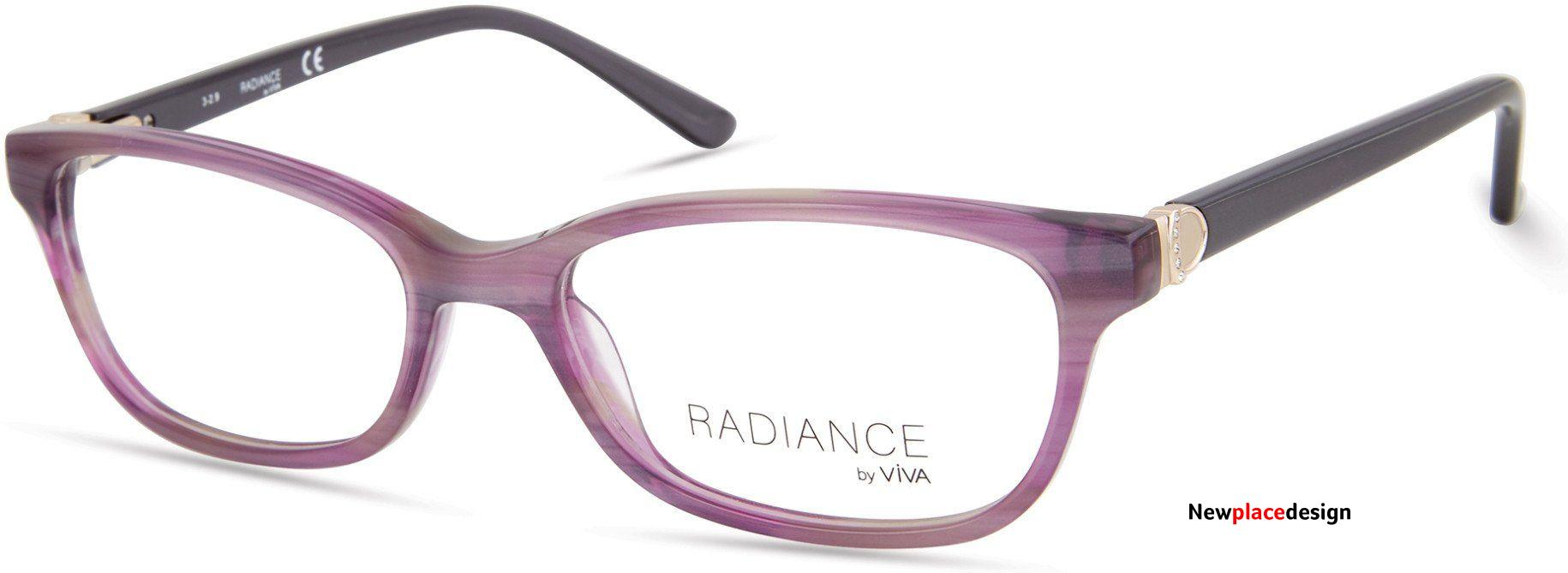 Viva VV8007 Oval Eyeglasses For Women - 54-17-145 / 080 - Lilac