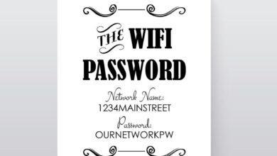WIFI Password Instant Download 8x10 Business Sign - EDITABLE