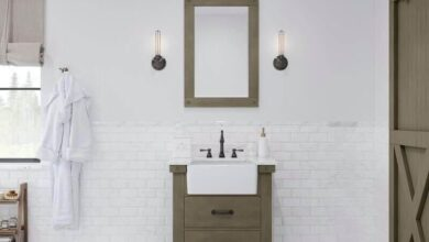 Water Creation Paisley 30 In. Single Sink Carrara White Marble Countertop Vanity in Grizzle Gray with Mirror