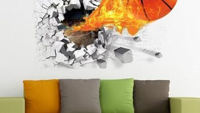 Waterproof 3D Basketball Rush out Wall Art Decal Kids Room Decor Mural Sticker - as the picture d