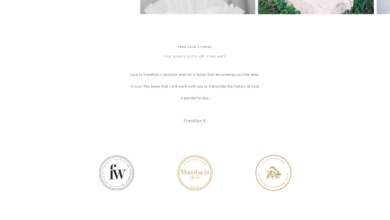 Wedding Photography Website Design - Rosemary WordPress Theme by Flothemes