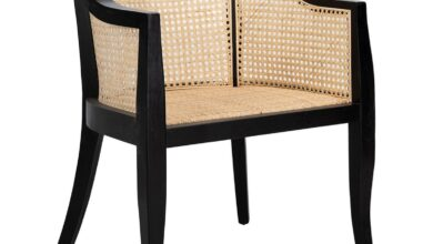 Weitzman Natural Cane Dining Chair