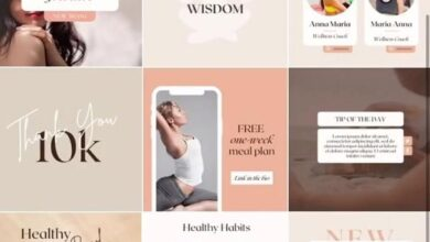 Wellness Coach Instagram Template. Social Media Post for Yoga instructor, Fitness  Food Blogger.