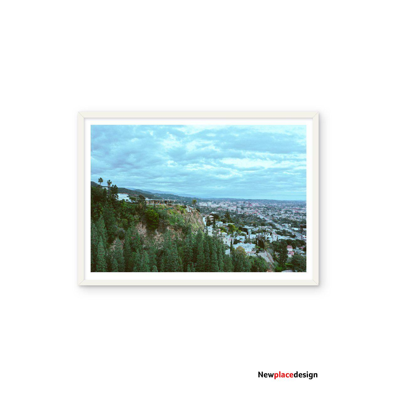 West Hollywood Hills Stahl House - 32x24 / White