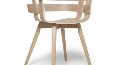 Wick Chair With Wooden Leg - Ask