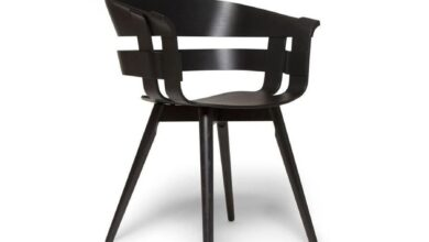 Wick Chair With Wooden Leg - Black Ash