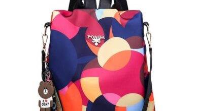 Women Waterproof Oxford Backpack Fashion Anti-theft Large Capacity Backpack - MULTI
