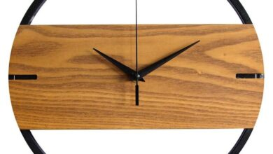 Wood Industrial Wall Clock - Photo Color