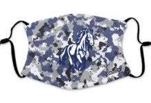 Woodland Colts Blue Camo Colt Face Mask - Youth