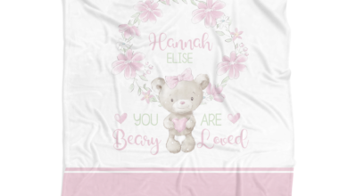 You are Beary Loved Personalized Fleece Blanket - Minky / 50x60 inches