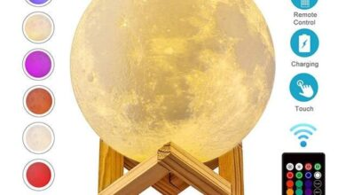 ZK20 Dropshipping USB Rechargeable 3D Print Moon Lamp Night Light Creative Home Decor Globe Bedroom Lover Children Gift - 16 Colors / 12cm / United States