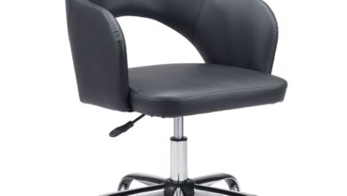 Zuo Planner Office Chair Black Leatherette