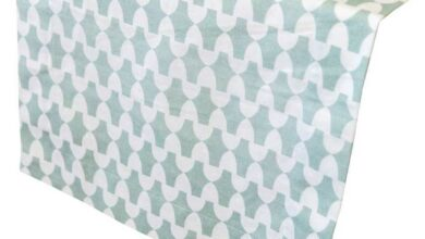 lantern mineral gray printed cloth table runners