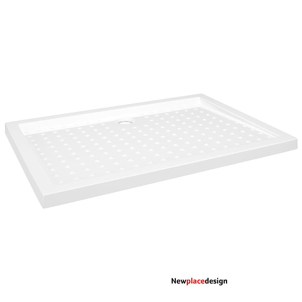vidaXL Shower Base Tray with Dots White 70x100x4 cm ABS 148899